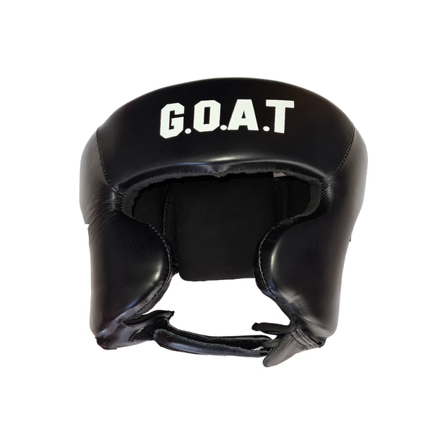 Black Pro Leather Headguard