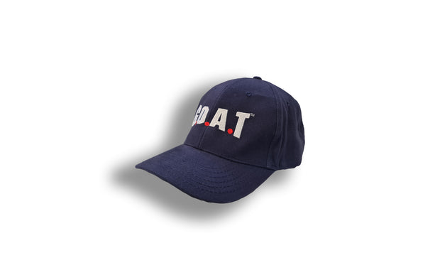 G.O.A.T Embroidered Baseball Cap - Navy Blue