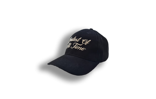 Greatest of all Time Embroidered Baseball Cap - Black