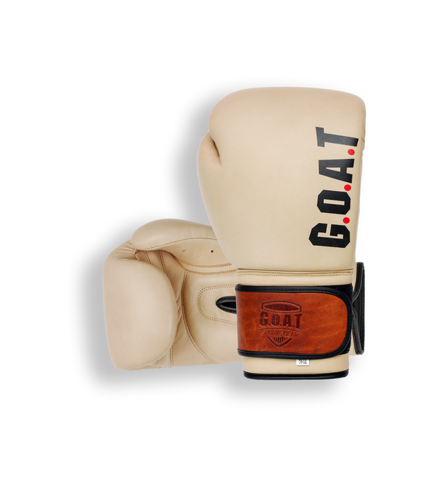 RETRO Cream - Leather Boxing Gloves - Boxing Gloves