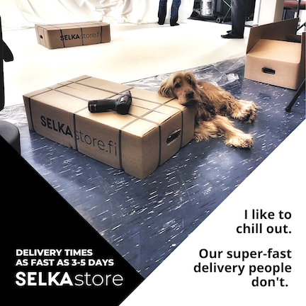 New computer desk with fast delivery from Selkastore