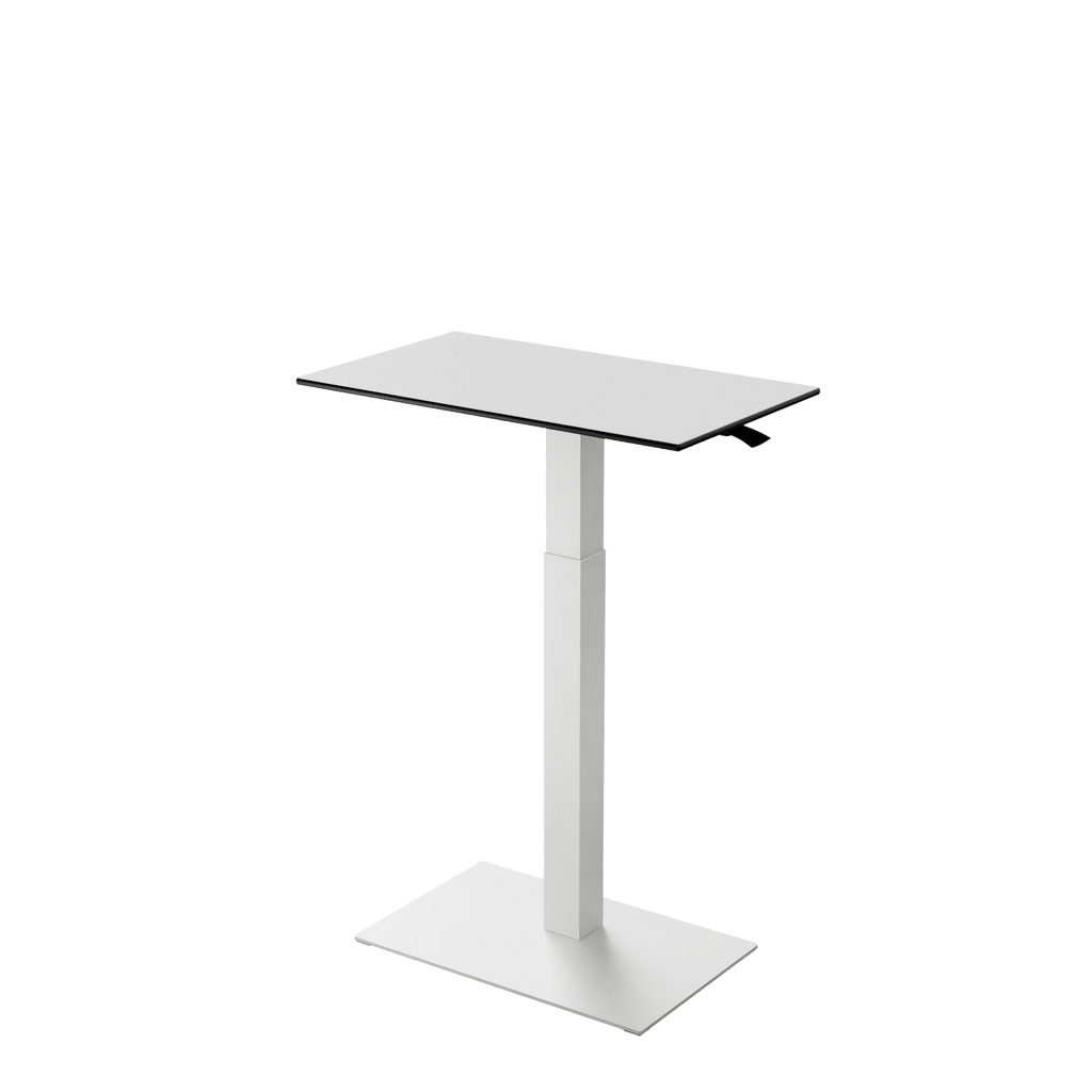 Height adjustable desk Mahtuva M Whiteblack with white base is good choice for remote workers by Selkastore