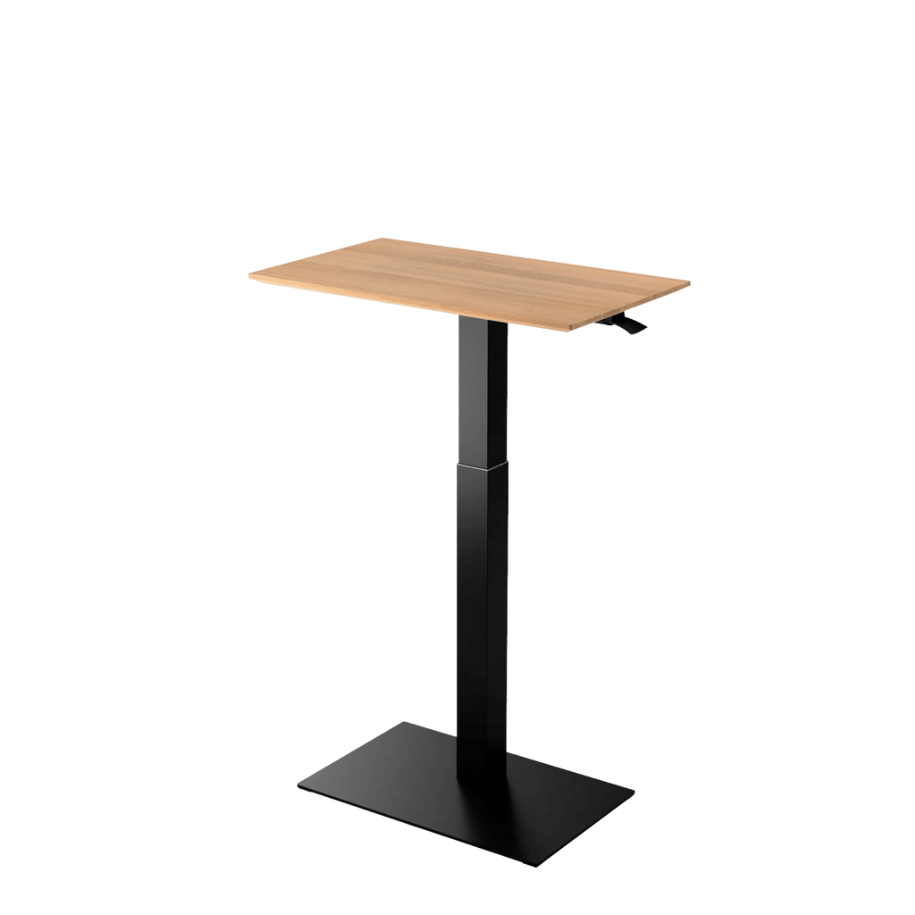 Height adjustable desk Mahtuva M Oak with black base is good choice for remote workers by Selkastore