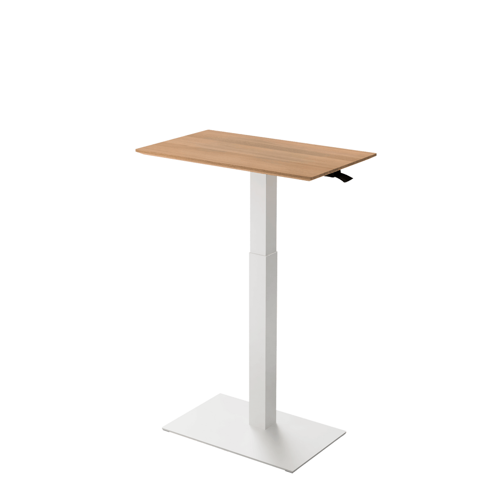 Height adjustable desk Mahtuva M Oak with white base is good choice for remote workers by Selkastore