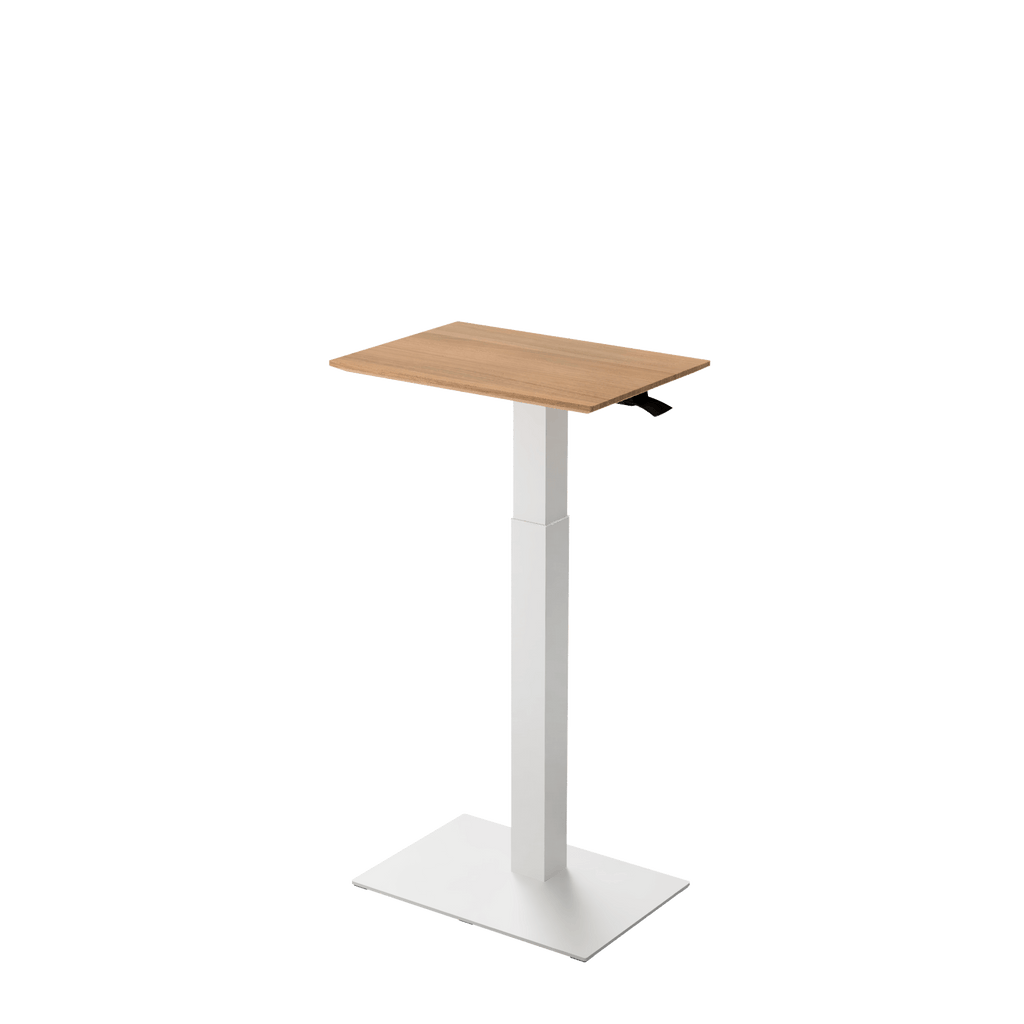 Height adjustable desk Mahtuva S Oak with white base is good choice for remote workers by Selkastore