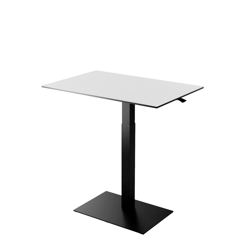 Height adjustable desk Mahtuva XL Blackwhite with black base is good choice for remote workers by Selkastore
