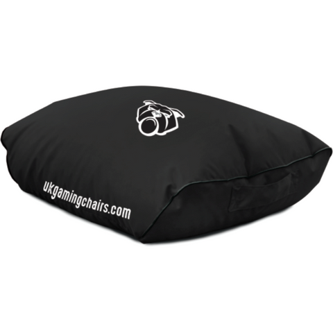Bulldog Bean Bag Footstool - Black
