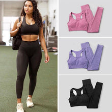 Load image into Gallery viewer, 3Pcs Seamless Yoga Set / Workout Bra + Top + Leggings Sports Set Primo Leggings