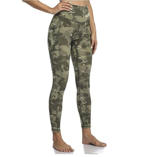Camo Printed High Waist Pocket Leggings Leggings Primo Leggings