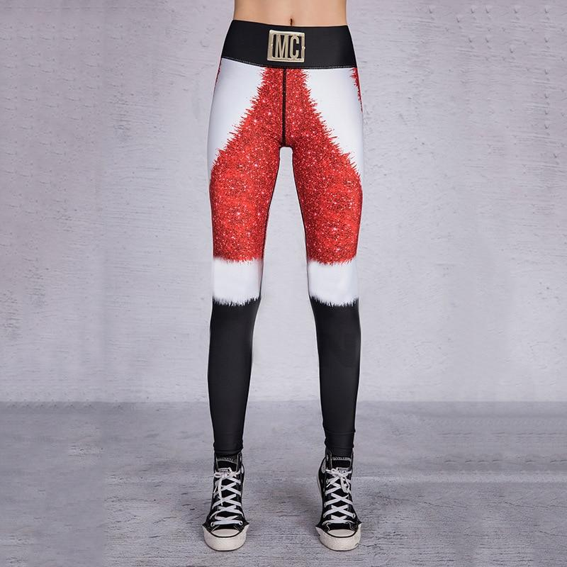 Christmas Lady Casual Stretchy Leggings Leggings Primo Leggings