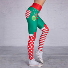 Load image into Gallery viewer, Christmas Lady Casual Stretchy Leggings Leggings Primo Leggings HY371-004 S