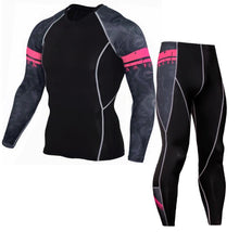 Load image into Gallery viewer, compression men t-shirt + leggings set Primo Leggings sets-1052 S