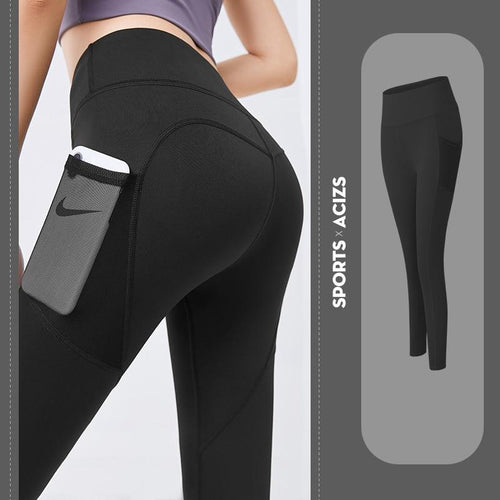 Elastic Waist Tummy Control Leggings With Pocket Leggings Primo Leggings