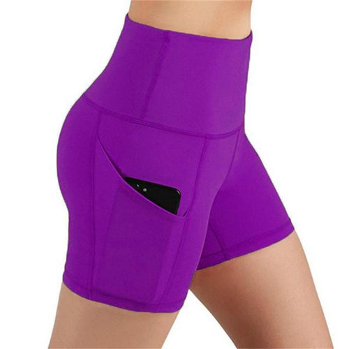Female Workout Leggings With Side Pocket - Purple Shorts Primo Leggings