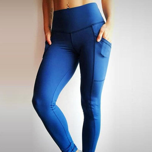 High Waist Patchwork Workout Pocket Leggings - 4 Colors Leggings Primo Leggings