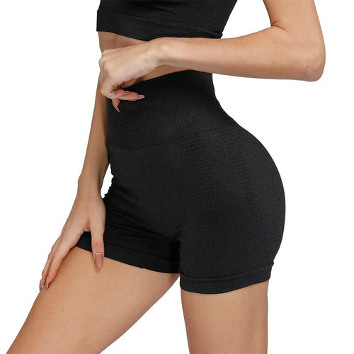 High Waist Seamless Compression Shorts For Women Shorts Primo Leggings Black S