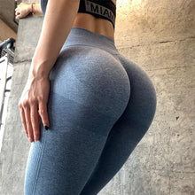 Load image into Gallery viewer, High Waist Seamless Gym Leggings Leggings Primo Leggings Blue Pants S
