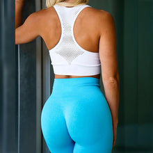 Load image into Gallery viewer, High Waist Squat Proof Seamless Yoga Leggings For Girls - Bright Blue Leggings Primo Leggings Bright blue S