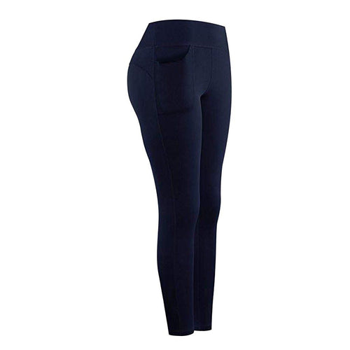 High Waist Stretch Athletic Leggings With Pocket Leggings Primo Leggings Navy S China