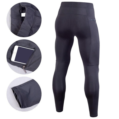 Men Compression Pant Running Tights With Pockets Leggings Primo Leggings