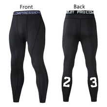 Load image into Gallery viewer, Men Compression Pants Tights Leggings Primo Leggings Black-1p Asian Size-M