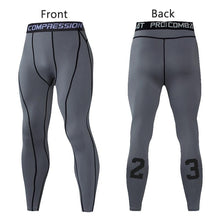 Load image into Gallery viewer, Men Compression Pants Tights Leggings Primo Leggings Gray-1p Asian Size-M