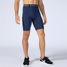 Load image into Gallery viewer, Men Solid Elastic Quick Dry Running Leggings Shorts Primo Leggings