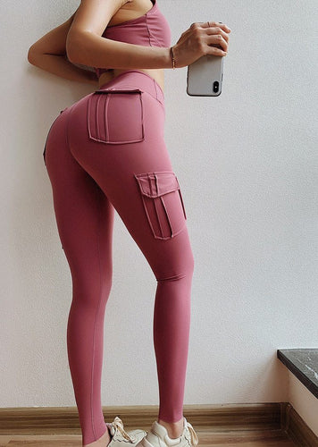 Push Up Leggings With Pockets - 4 Colors Leggings Primo Leggings Pink S