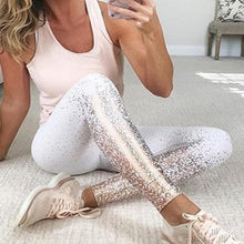 Load image into Gallery viewer, Shiny Seamless Workout Leggings - 3 Colors Leggings Primo Leggings white S