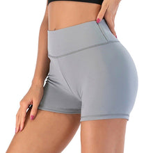 Load image into Gallery viewer, Waistband Skinny Fitness Shorts - Gray Shorts Primo Leggings