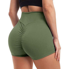 Load image into Gallery viewer, Waistband Skinny Fitness Shorts - Gray Shorts Primo Leggings Green S