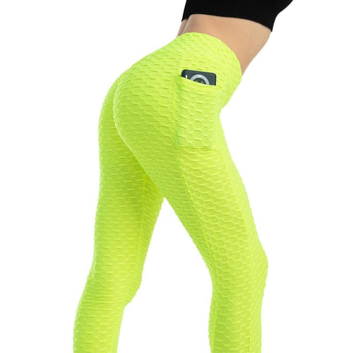 Women Scrunch Leggings With Pockets - Neon Leggings Primo Leggings