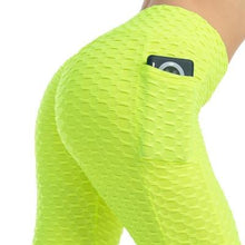 Load image into Gallery viewer, Women Scrunch Leggings With Pockets - Neon Leggings Primo Leggings Neon S