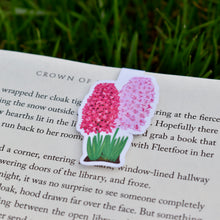Load image into Gallery viewer, Pink Hyacinths Magnetic Bookmark