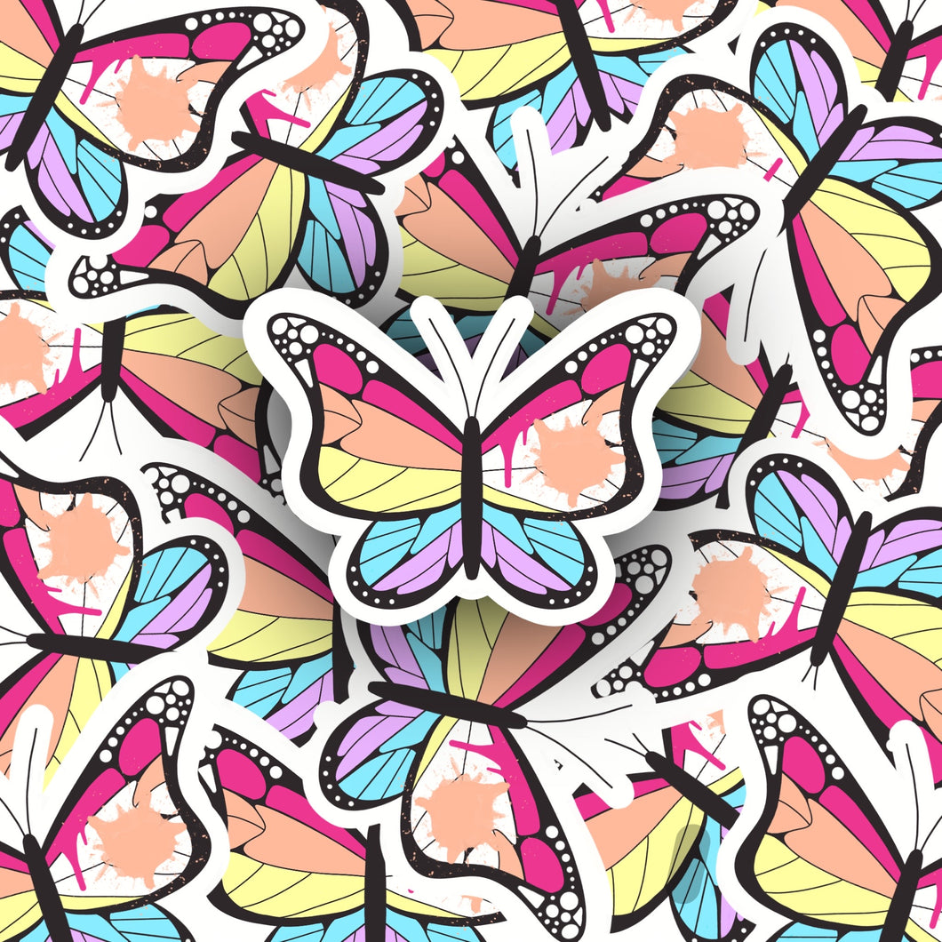 Painted Butterfly Sticker