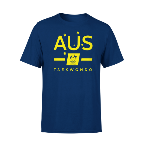 AOC Taekwondo Adults Navy Supporter Tee