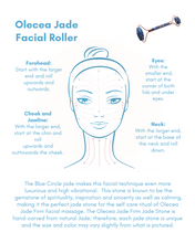 Load image into Gallery viewer, Blue Circle Jade Face Roller - Olecea ™