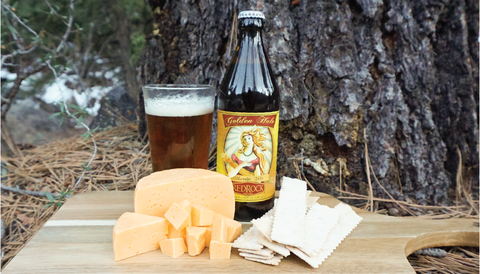 The Creamery Gouda and Red Rock Brewing Co. Golden Halo Blonde Ale