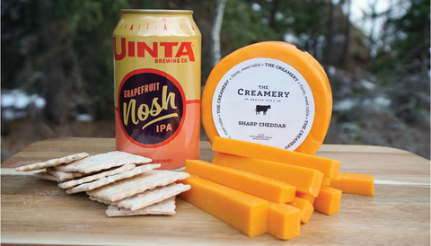 The Creamery Sharp Cheddar and Uinta Brewing Co. Hazy Nosh India Pale Ale