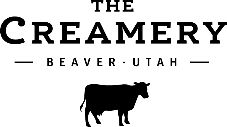 The Creamery logo with the words The Creamery, Beaver, Utah and Lily, the cow.