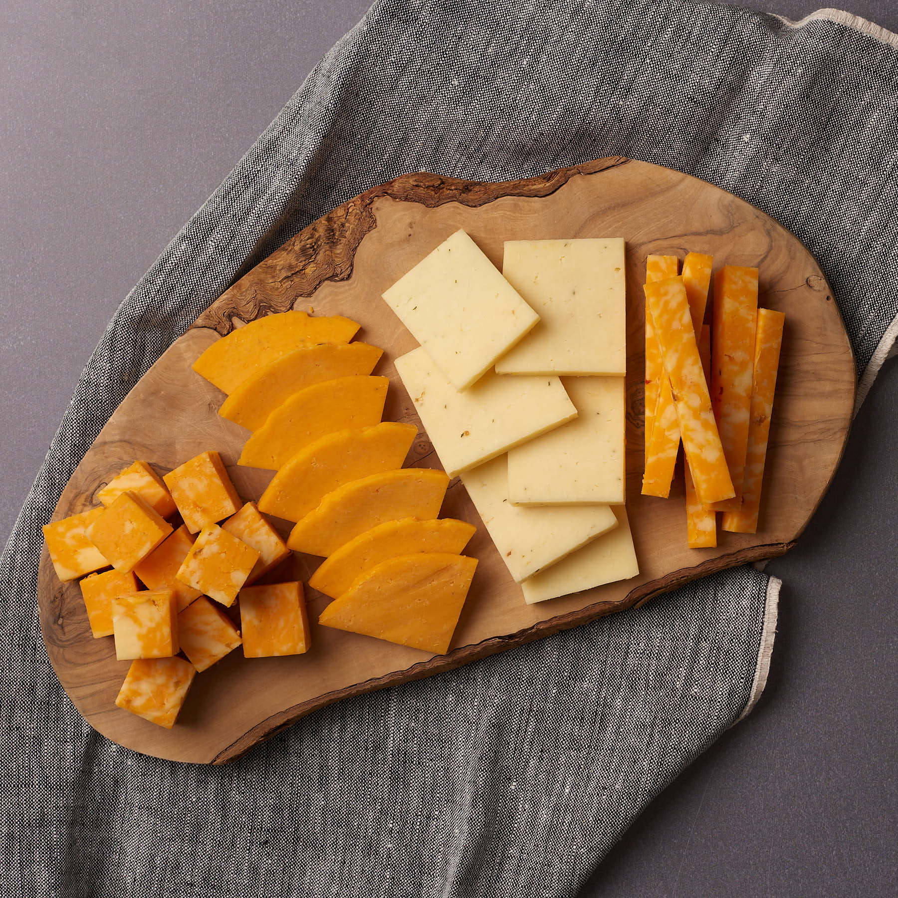 image of cheese board featuring Fiery Jack cheese