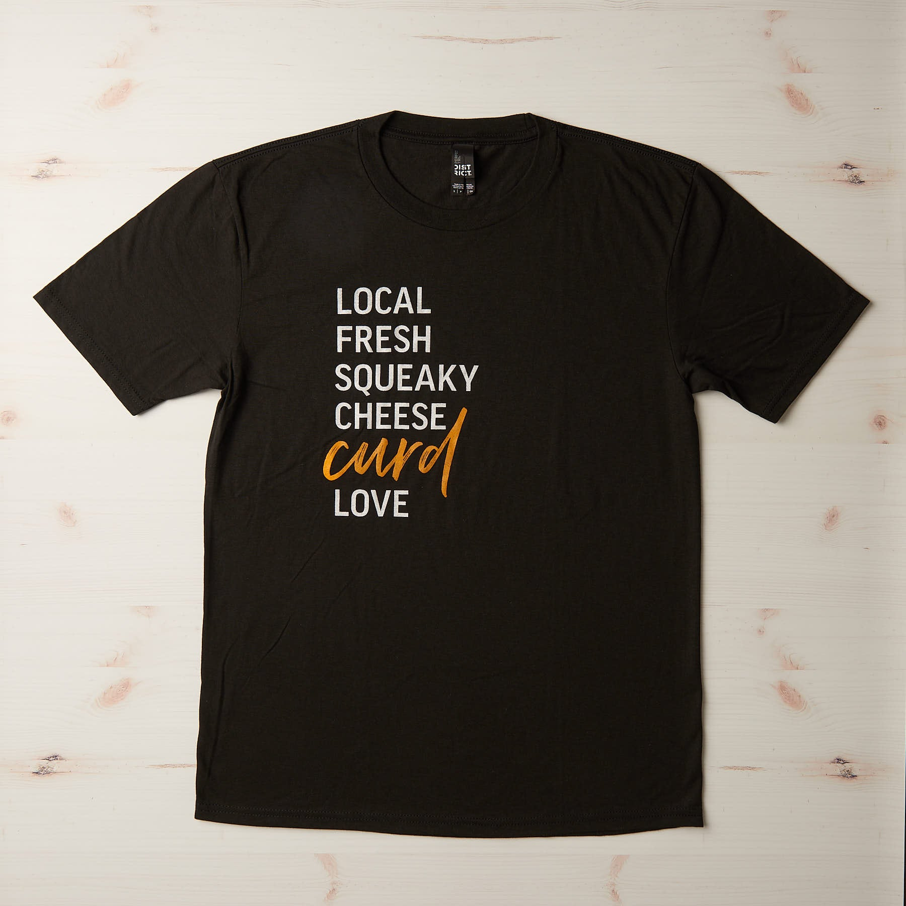 The Creamery Local Fresh Squeaky shirt, front