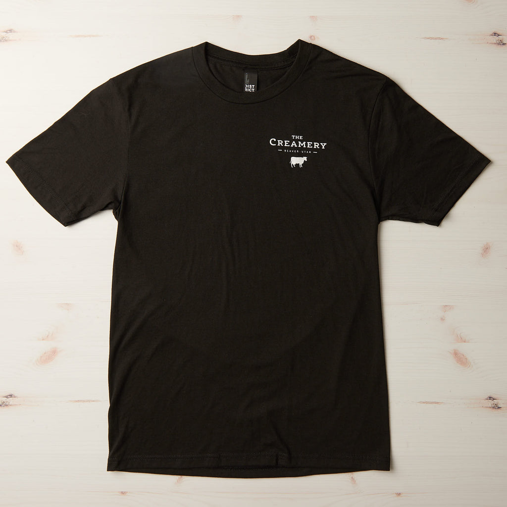 The Creamery Curd Capital shirt, front