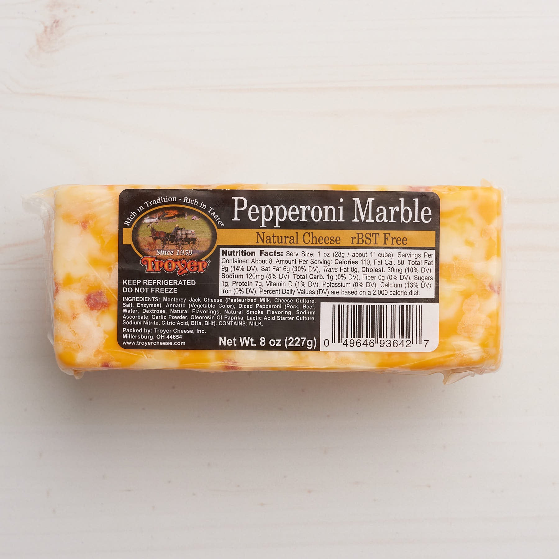 Troyer Pepperoni Marble Cheese