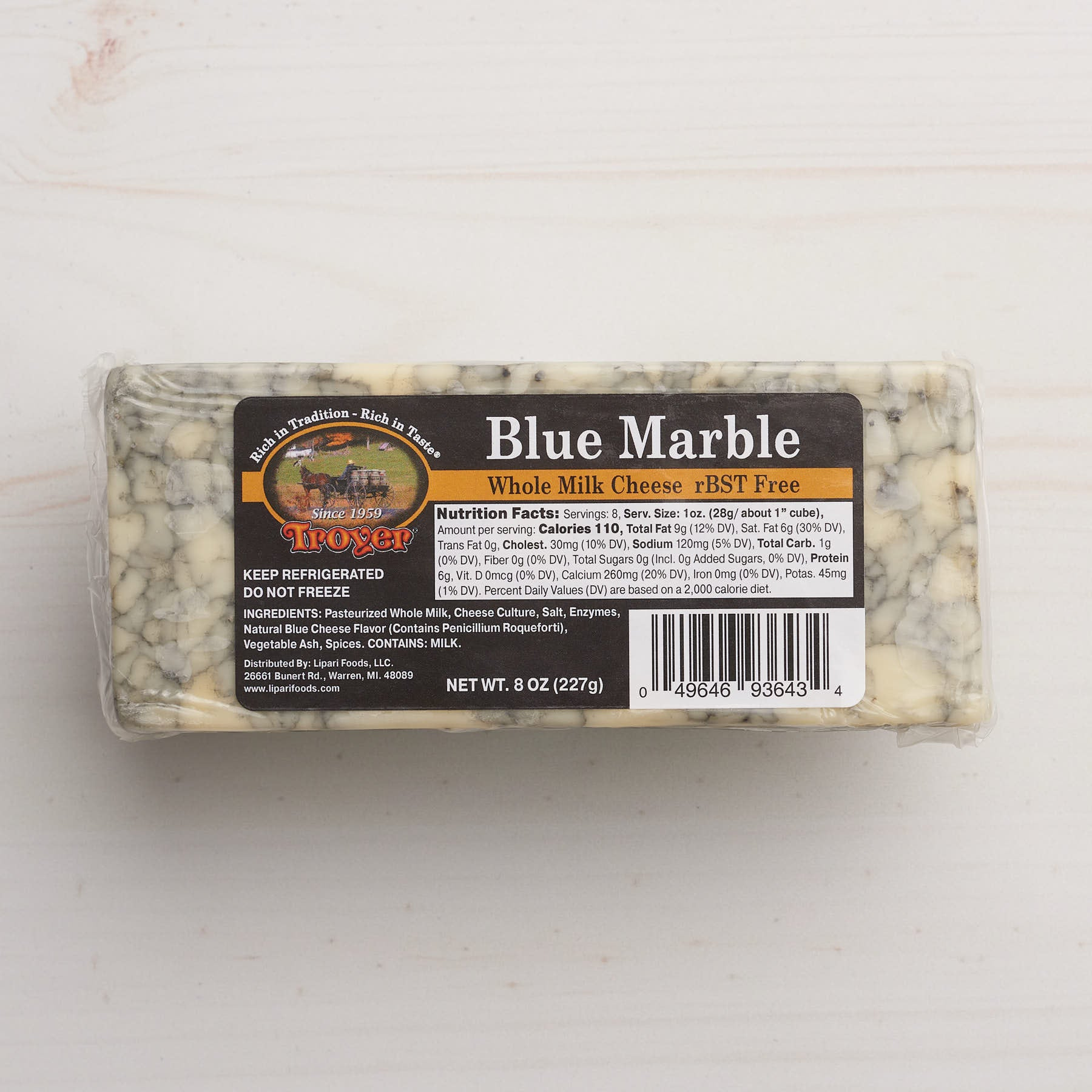 Troyer Blue Marble Cheese