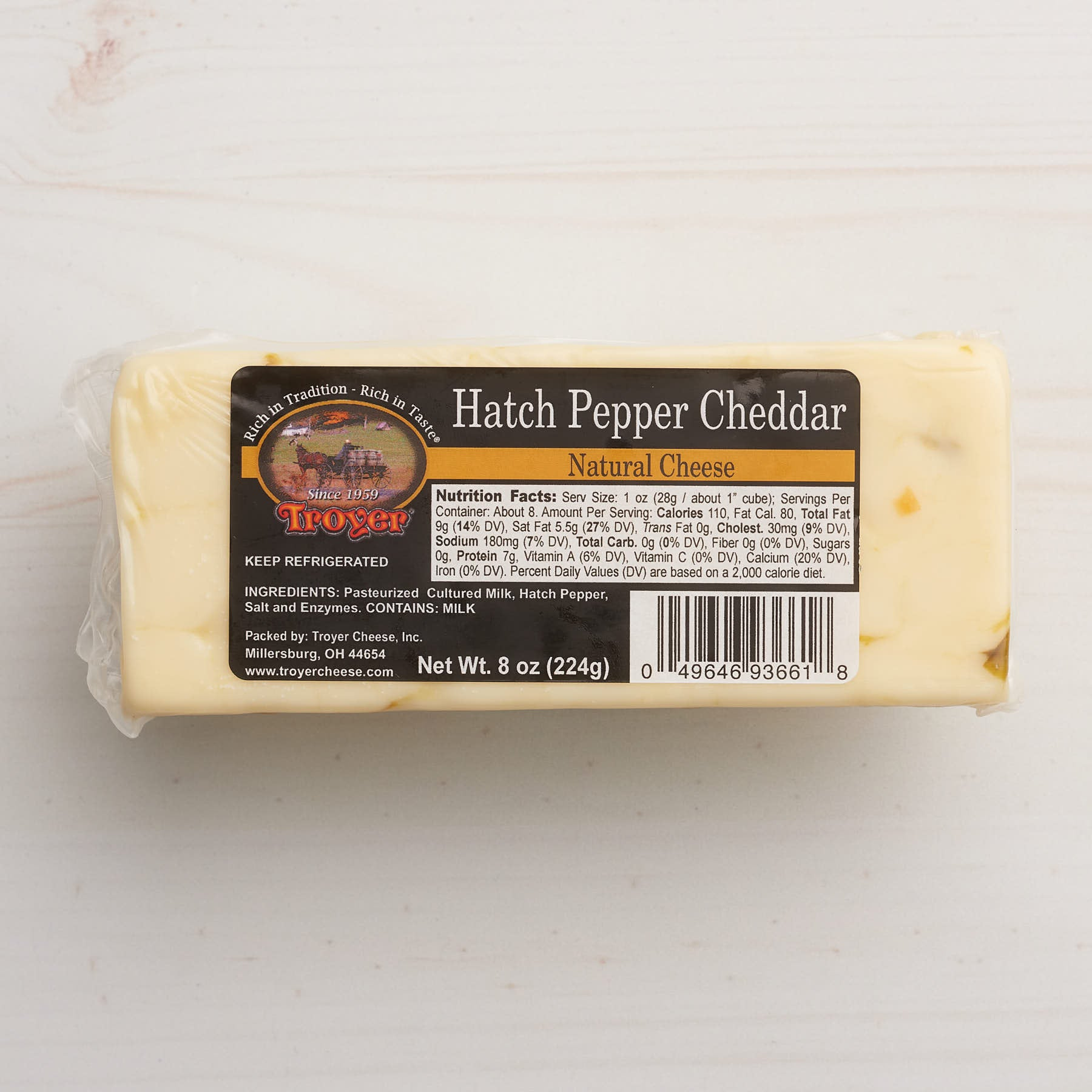 Troyer Hatch Pepper Cheddar Cheese