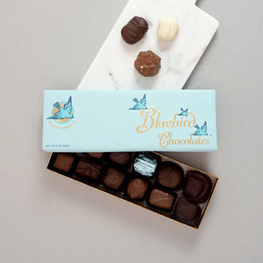Image of Bluebird Assorted Chocolates 8 ounce Box