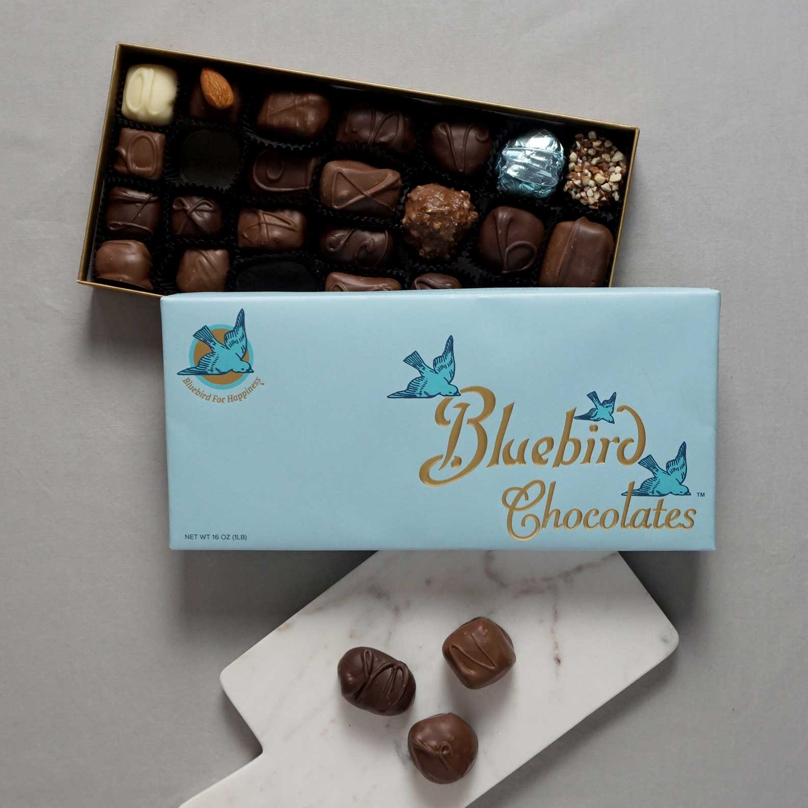 Image of Bluebird Assorted Chocolates 16 ounce Box