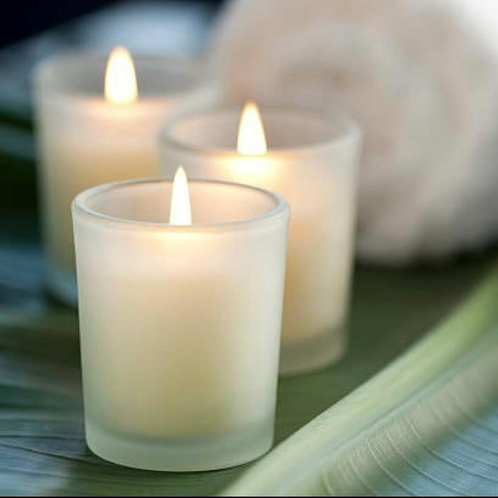 Mangata Frosted glass candle