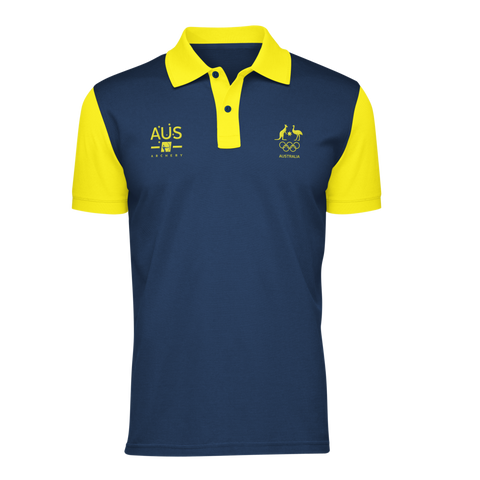 AOC Archery Adults Navy Supporter Polo